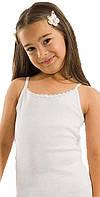 Детская майка топ белая для девочки р28,30,32,34
