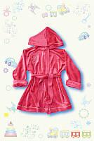 Детский халат велюр СЕРЫЙ для мальчика и девочки 2-4 года