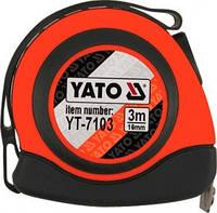 Рулетка строительная (измерительная) 16мм х 3м с магнитом YATO YT-7103