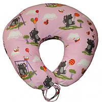 Подушка для кормления Слоники на розовом улучшенная