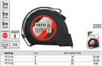 Рулетка строительная (измерительная) 25мм х 8м YATO YT-7112
