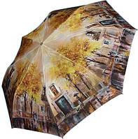 Женский полуавтоматический зонт с ярким оригинальным рисунком ZEST Z246655-67 Антиветер!