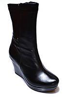"""Зимние женские сапоги """"Velutto"""". Натуральная шерсть. Кожаные. На платформе"""