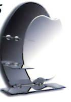 Зеркало фацетное 600*750 с зеркальными полочками