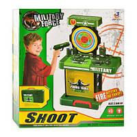 Детский игровой набор военного с мишенью 2038. Музыка, свет, звук, на батарейке.