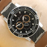 Часы Ulysse Nardin Chronometr Date Silver Black кварцевые