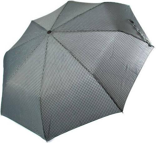 Стильный и качественный зонт, полный автомат RAINY DAYS (РЕЙНИ ДЕЙС) Антиветер Антиветер U76868-grey-kletka