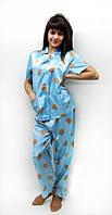Шелковая пижама s m