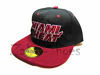 "Кепка реперка ""Miami Heat"" (Black & Red)"