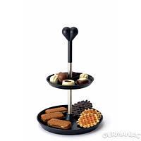 Двухярусная стойка-ваза для печенья, фруктов (3800017)