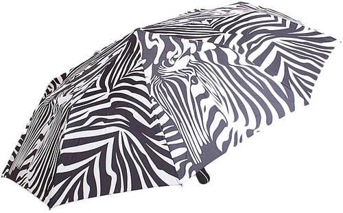 Автоматический женский зонт, антиветер ZEST Z23966-8092 зебра