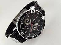 Мужские часы - Ulysse Nardin - LeLocle на черном каучуковом ремешке с вращающимся безелем, цвет серебро