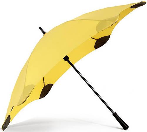 Противоштормовой зонт-трость с большим куполом механический BLUNT (БЛАНТ) Bl-classic-yellow