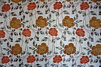 Ткань мебельная Язгулу- шенилл декор / оранж.