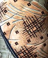 Ткань мебельная Шпигель- велюр абстракция / беж