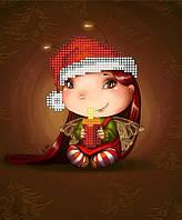 """Схема для вышивки бисером """"Малышка Рождественская свеча"""""""