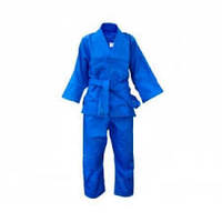 Кимоно для дзюдо MATSA (синее) на рост от 130 до 190 см. плотность 450г.на м2