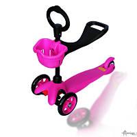 Самокат детский Explore Saddler Розовый (канадский аналог Mini Micro 2 в 1)
