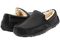 Мокасины кожаные Ascot Leather Кожа (Оригинал) черные угги мужские