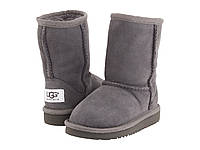 Детские UGG Classic short Grey (Угги серые детские). детские угги, угги детские