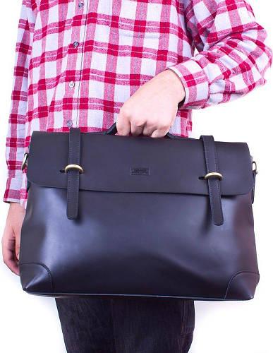 Портфель мужской из натуральной кожи ETERNO (ЭТЭРНО) ET3122-3-black черный
