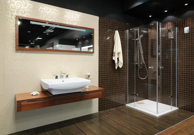 красивый дизайн ванной комнаты с душевой кабиной 71770