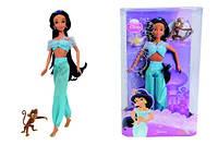 Кукла принцесса Диснея Princess Disney Жасмин с обезьянкой Абу