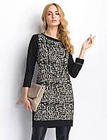 Женское платье выше колена с орнаментом. Модель РS07 Sunwear, коллекция осень-зима 2014-2015