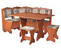 Кухонный уголок+раскладной стол+табуреты Сирия (Компанит)