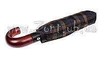 Мужской зонт Три Слона Ручка крюк дерево, купол 116 см (полный автомат), арт.501-22