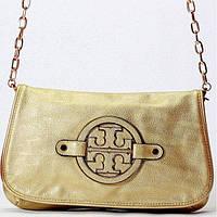Женская сумка - клатч Tory Burch  золотистый