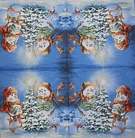 Красивые новогодние салфетки для декупажа 216