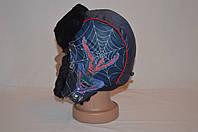 Ушанка детская паук синий