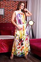 Платье в пол летнее Алена А3 Медини 42-46размер