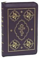 Библия. На молнии. Кожа. Бардовая/зеленая. С неканоническими книгами.