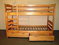 Кровать двухярусная деревянная