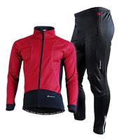 Велокостюм Nuckily красная, ветрозащитный и водоотталкивающий