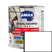 Грунт-эмаль Smile 3 в 1 антикоррозионная белая 0.8кг