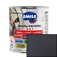Грунт-эмаль Smile 3 в 1 антикоррозионная Темно-коричневая 0,8кг