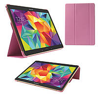 Чехол Slim Tri-fold Leather Samsung Galaxy Tab S 10.5 T800 розовый