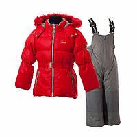 Зимний комплект пуховый для девочек Gusti Boutique GWG 4624 True Red.