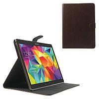 Чехол Textured Magnetic Leather Samsung Galaxy Tab S 10.5 коричневый