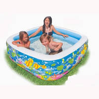 Детский квадратный надувной бассейн «Аквариум» Intex 57471интекс 159 см х 159 см х 50 см киев