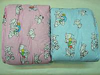 Одеяло детское, синтетическое волокно, теплое, бязь
