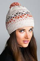 Женская зимняя шапка с русонком