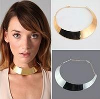 Металлическое ожерелье-воротник, цвет - серебро