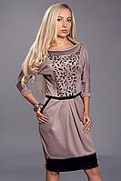 Платье женское мод 441-1 ,размер 48,50,52 капучино