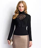 Стильная вечерняя блуза с воротником-стойка и длинным рукавом. Модель Р69 Sunwear, коллекция осень-зима 2015