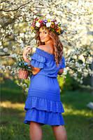 Хлопковое синее платье Варвара А1 Медини 46-48р