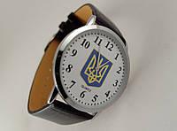 Часы мужские с Гербом Украины серебристый корпус
